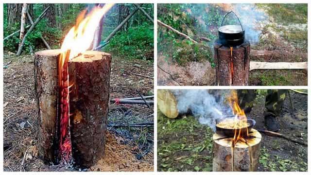 Финская свеча или таёжная свеча