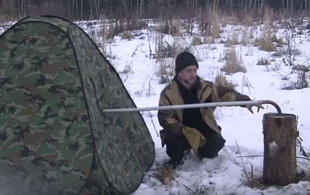 Как отопить палатку финской свечой