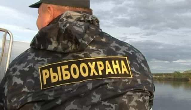 Инспектор Рыбоохраны провреяет лодку на наличие спасжилета
