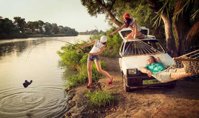 Какие 200 метров - 30-ти достаточно: подъезд на машине к речке