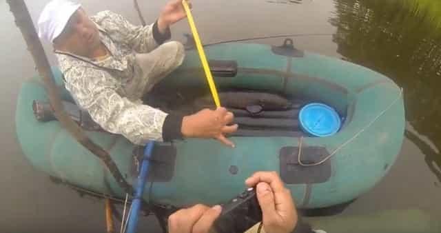 Линейка или рулетка на рыбалке