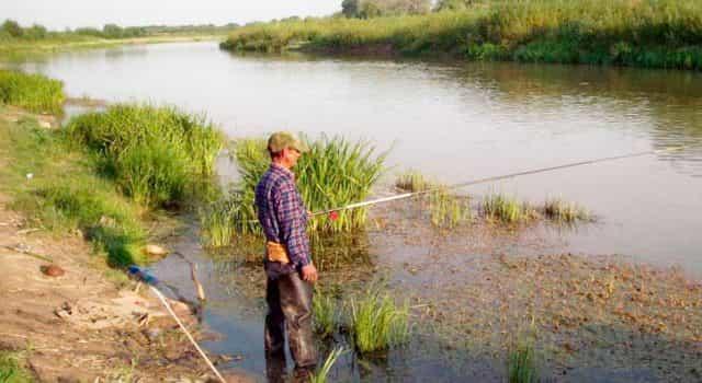 Рыбалка с берега в прибрежной зоне