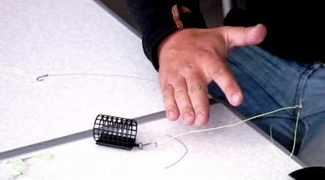 Как привязать кормушку к леске