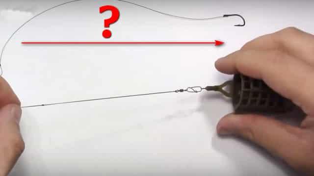 Какой длины делать поводок для фидерной ловли на течении?