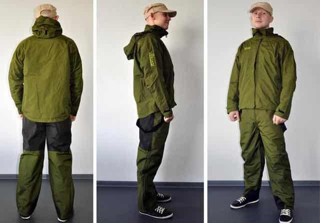 Непромокаемая одежда для рыбалки (костюм из мембраной ткани - вейдерсы)