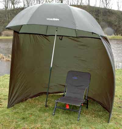 Зонт для рыбалки с креслом от дождя