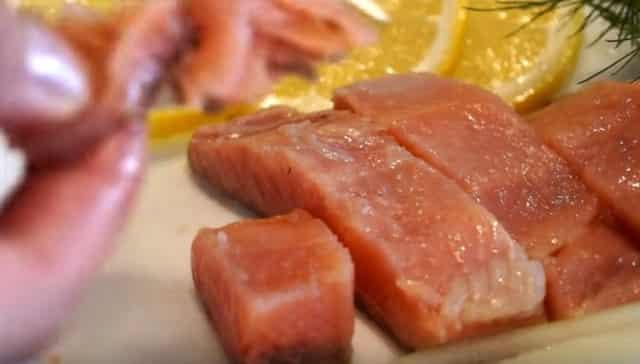 Вкусная горбуша соленая (быстрого посола) по-домашнему