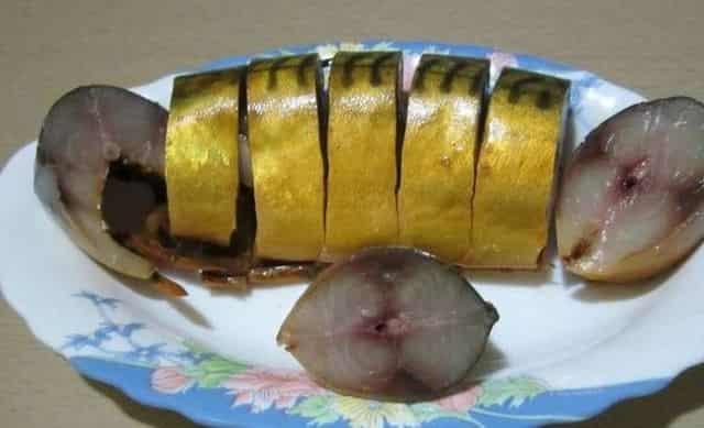 Вкуснейшая золотистая маринованная скумбрия домашнего посола - в разы лучше магазинной