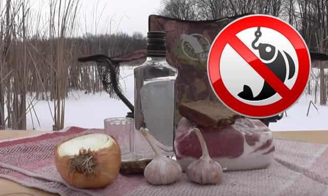 Алкоголь не поможет согреться зимой на рыбалке