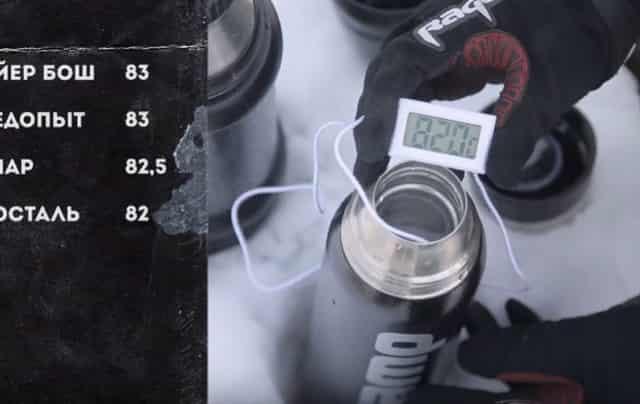 Какой термос лучше сохраняет тепло