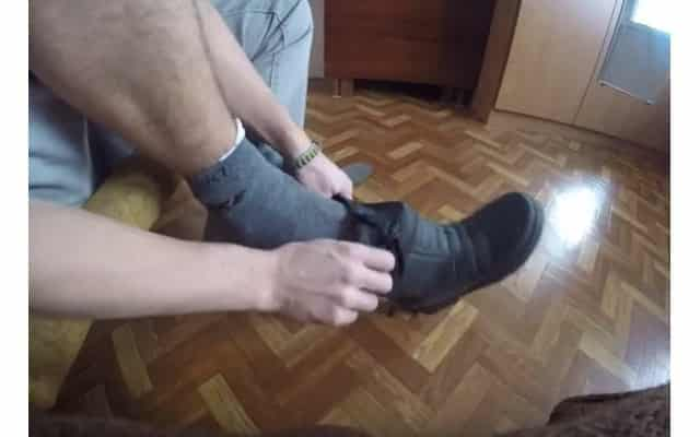 Сапоги ПВА после газеты, пакета и носка