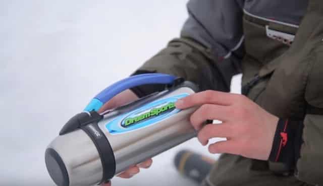 Термос для зимней рыбалки, который очень долго держит тепло