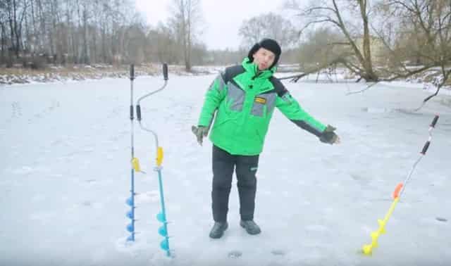 """Тест с 4-мя ледобурами для зимней рыбалки - какой """"крошит"""" лёд и по цене адекватный"""
