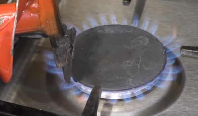Замена ноже ледобура с помощью нагрева