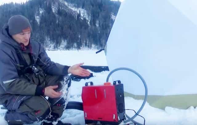 Обалденный обогреватель для зимней рыбалки и для палатки - греет как у мамы под печкой