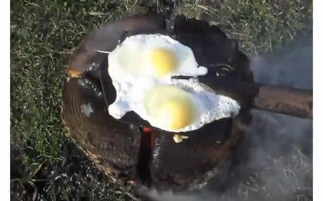 Яичница на лопате