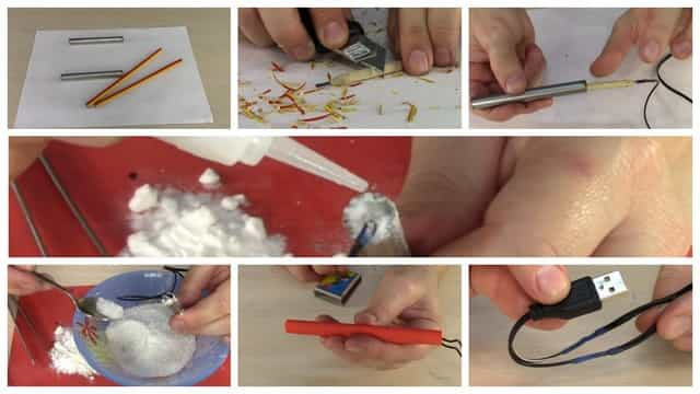 Изготовление электрической грелки из карандаша