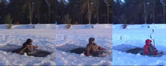 Испытание костюмов для зимней рыбалки в реальных условиях