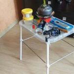 Классный самодельный простой и бюджетный разборный столик для рыбалки