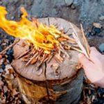 """Нетрадиционный, """"зоновский"""" способ добычи огня из ваты - так беглые зеки разводили костёр"""